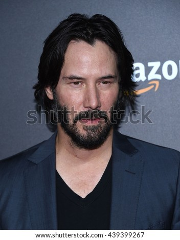 LOS ANGELES - JUN 14:  Keanu Reeves arrives to the 'The Neon Demon' Hollywood Premiere  on June 14, 2016 in Hollywood, CA.                 - stock photo