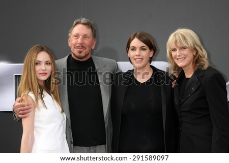 "LOS ANGELES - JUN 28:  Megan Ellison (third from left), guests at the ""Terminator Genisys"" Los Angeles Premiere at the Dolby Theater on June 28, 2015 in Los Angeles, CA - stock photo"