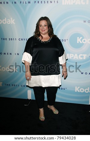 LOS ANGELES - JUN 16:  Melissa McCarthy arrives at the 2011 Women In Film Crystal + Lucy Awards  at Beverly Hilton Hotel  on June 16, 2011 in Beverly Hills, CA - stock photo