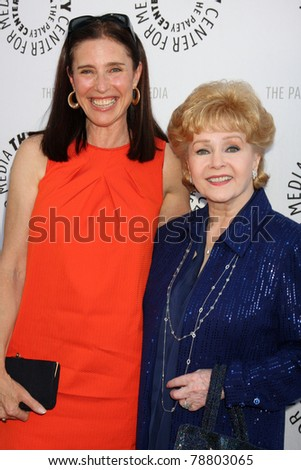 LOS ANGELES - JUN 7:  Mimi Rogers, Debbie Reynolds arrive at the Debbie Reynolds Collection Auction Preview at Paley Center For Media on June 7, 2011 in Beverly Hills, CA - stock photo