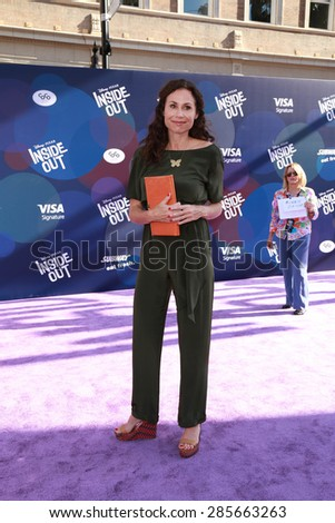 "LOS ANGELES - JUN 8:  Minnie Driver at the ""Inside Out"" Premiere at the El Capitan Theatre on June 8, 2015 in Los Angeles, CA - stock photo"
