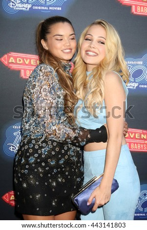 LOS ANGELES - JUN 23:  Paris Berelc, Kelli Berglund at the 100th DCOM Adventures In Babysitting LA Premiere Screening at the Directors Guild of America on June 23, 2016 in Los Angeles, CA - stock photo