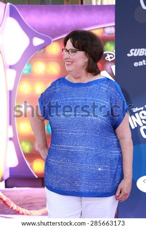 "LOS ANGELES - JUN 8:  Phyllis Smith at the ""Inside Out"" Premiere at the El Capitan Theatre on June 8, 2015 in Los Angeles, CA - stock photo"