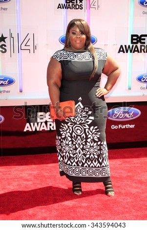 LOS ANGELES - JUN 29:  Raven Goodwin at the 2014 BET Awards - Arrivals at the Nokia Theater at LA Live on June 29, 2014 in Los Angeles, CA - stock photo