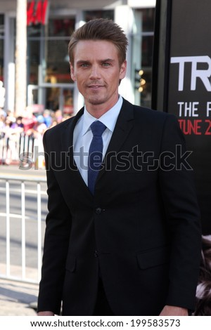 """LOS ANGELES - JUN 17:  Riley Smith at the HBO's """"True Blood"""" Season 7 Premiere Screening at the TCL Chinese Theater on June 17, 2014 in Los Angeles, CA - stock photo"""