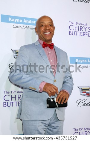 LOS ANGELES - JUN 11:  Russell Simmons at the 15th Annual Chrysalis Butterfly Ball at the Private Residence on June 11, 2016 in Brentwood, CA - stock photo