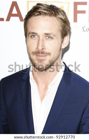 LOS ANGELES - JUN 17: Ryan Gosling at the 'Drive' premiere during the 2011 Los Angeles Film Festival at Regal Cinemas L.A. Live in Los Angeles, California on June 17, 2011. - stock photo