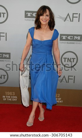LOS ANGELES - JUN 5:  Sally Field arrives at the AFI TRIBUTE TO JANE FONDA   on June 5, 2014 in Hollywood, CA                 - stock photo