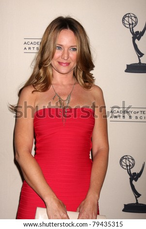 LOS ANGELES - JUN 16:  Sharon Case arrives at the Academy of Television Arts and Sciences Daytime Emmy Nominee Reception at SLS Hotel at Beverly Hills on June 16, 2011 in Beverly Hills, CA - stock photo