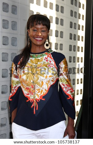 """LOS ANGELES - JUN 20:  Sufe Bradshaw arrives at HBO's """"The Newsroom"""" Los Angeles Premiere at Cinerama Dome Theater on June 20, 2012 in Los Angeles, CA - stock photo"""