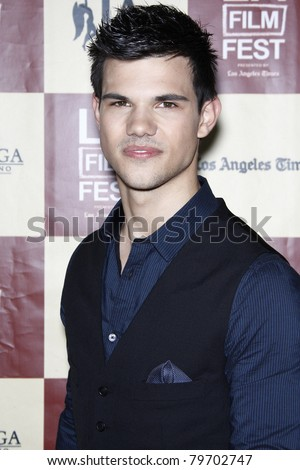LOS ANGELES - JUN 21: Taylor Lautner at 'A Better Life' World Premiere Gala Screening at the 2011 Los Angeles Film Festival at Regal Cinemas L.A. LIVE in Los Angeles, California on June 21, 2011 - stock photo