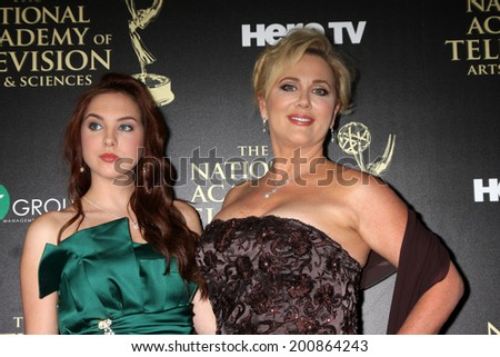 LOS ANGELES - JUN 22:  Tonya Walker, daughter at the 2014 Daytime Emmy Awards Arrivals at the Beverly Hilton Hotel on June 22, 2014 in Beverly Hills, CA - stock photo