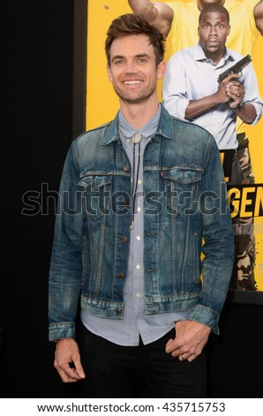 LOS ANGELES - JUN 10:  Tyler Hilton at the Central Intelligence Los Angeles Premiere at the Village Theater on June 10, 2016 in Westwood, CA - stock photo