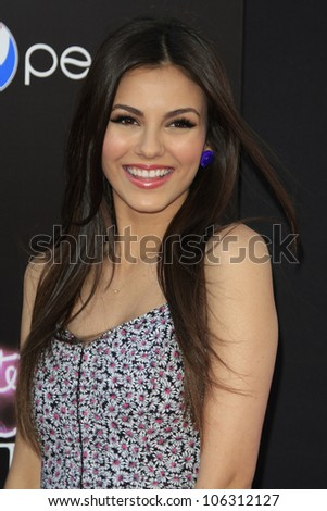 LOS ANGELES - JUN 26: Victoria Justice at the premiere of Paramount Insurge's 'Katy Perry: Part Of Me' held on June 26, 2012 in Hollywood, Los Angeles, California - stock photo