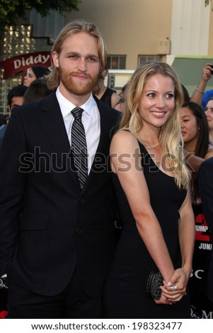 "LOS ANGELES - JUN 10:  Wyatt Russell at the ""22 Jump Street"" Premiere at Village Theater on June 10, 2014 in Westwood, CA - stock photo"