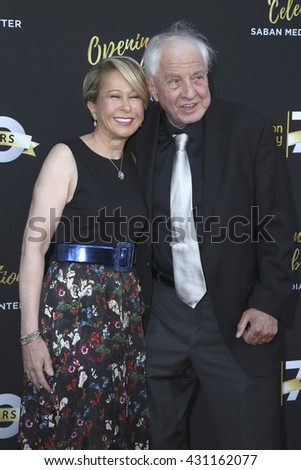 LOS ANGELES - JUN 2:  Yeardley Smith, Garry Marshall at the Television Academy 70th Anniversary Gala at the Saban Theater on June 2, 2016 in North Hollywood, CA - stock photo