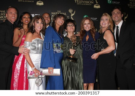LOS ANGELES - JUN 22:  Young and Restless - Best Daytime Drama at the 2014 Daytime Emmy Awards Press Room at the Beverly Hilton Hotel on June 22, 2014 in Beverly Hills, CA - stock photo