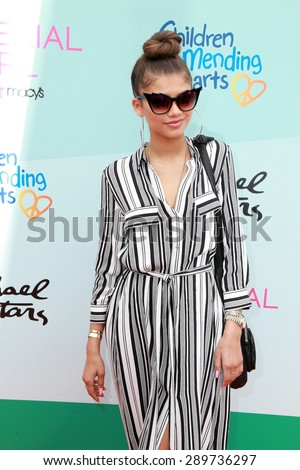 LOS ANGELES - JUN 14:  Zendaya Coleman at the Children Mending Heart's 7th Annual Empathy Rocks Fundraiser at the Private Location on June 14, 2015 in Malibu, CA - stock photo