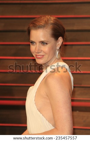 LOS ANGELES - MAR 2:  Amy Adams at the 2014 Vanity Fair Oscar Party at the Sunset Boulevard on March 2, 2014 in West Hollywood, CA - stock photo