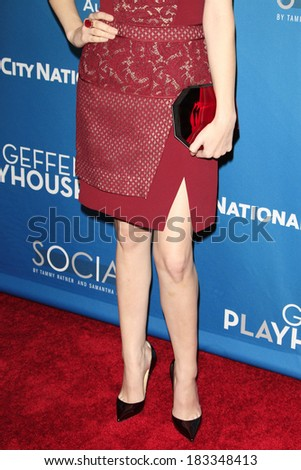 LOS ANGELES - MAR 22: Anna Kendrick at the Geffen Playhouse's Annual 'Backstage At The Geffen' Gala at Geffen Playhouse on March 22, 2014 in Los Angeles, California - stock photo