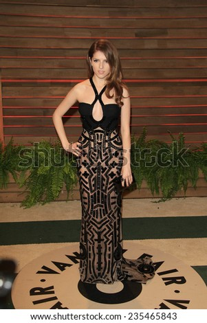 LOS ANGELES - MAR 2:  Anna Kendrick at the 2014 Vanity Fair Oscar Party at the Sunset Boulevard on March 2, 2014 in West Hollywood, CA - stock photo