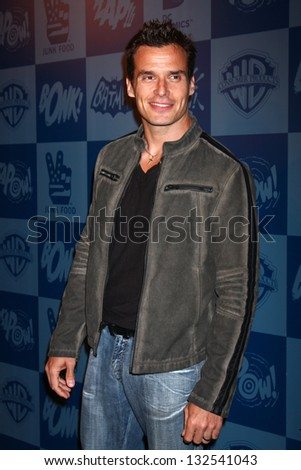 LOS ANGELES - MAR 21:  Antonio Sabato Jr arrive at the Batman Product Line Launch at the Meltdown Comics on March 21, 2013 in Los Angeles, CA - stock photo