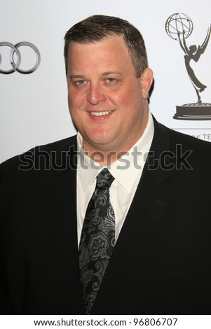 LOS ANGELES - MAR 1:  Billy Gardell arrives at the Academy of Television Arts & Sciences 21st Annual Hall of Fame Ceremony at the Beverly Hills Hotel on March 1, 2012 in Beverly Hills, CA - stock photo