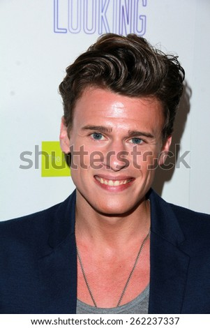 """LOS ANGELES - MAR 19:  Blake Mcivere at the """"Looking"""" Season 2 Finale Screening and Party at the Abbey on March 19, 2015 in West Hollywood, CA  - stock photo"""