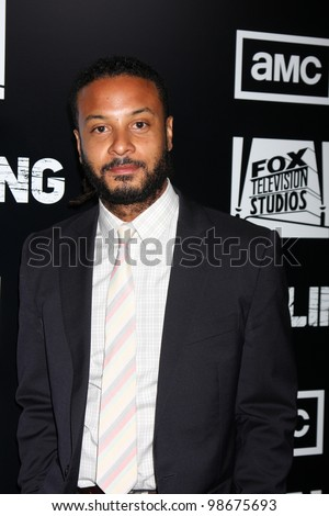 """LOS ANGELES - MAR 26:  Brandon Jay McLaren arrives at  the AMC's """"The Killing"""" Season 2 Premiere at the ArcLight Theaters on March 26, 2012 in Los Angeles, CA - stock photo"""