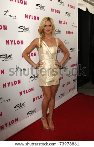 LOS ANGELES - MAR 24:  Brittany Snow arriving at the Nylon Magazine 12th Anniversary Issue Party at Tru Hollywood on March 24, 2011 in Los Angeles, CA - stock photo