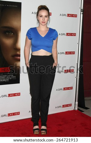 """LOS ANGELES - MAR 27:  Camryn Grimes at the """"A Girl Like Her"""" Screening at the ArcLight Hollywood Theaters on March 27, 2015 in Los Angeles, CA - stock photo"""