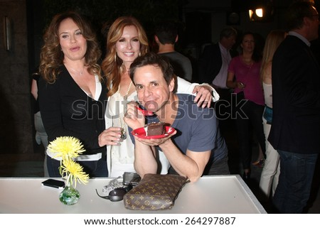 LOS ANGELES - MAR 26:  Catherine Bell, Tracey Bregman, Christian LeBlanc at the Young & Restless 42nd Anniversary Celebration at the CBS Television City on March 26, 2015 in Los Angeles, CA - stock photo