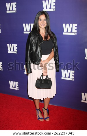 """LOS ANGELES - MAR 19:  Catherine Lowe at the WE tv Presents """"The Evolution of Realationship Reality Shows"""" at the Paley Center For Media on March 19, 2015 in Beverly Hills, CA  - stock photo"""