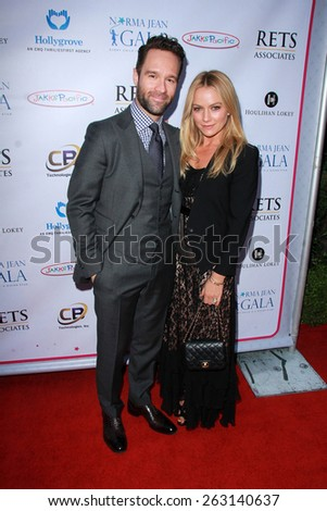 LOS ANGELES - MAR 18:  Chris Diamantopoulos, Becki Newton at the Norma Jean Gala at the Taglyan Complex on March 18, 2015 in Los Angeles, CA - stock photo
