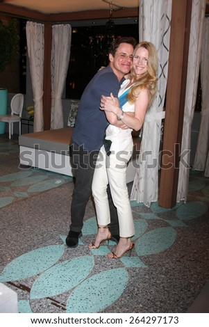 LOS ANGELES - MAR 26:  Christian LeBlanc, Lauralee Bell at the Young & Restless 42nd Anniversary Celebration at the CBS Television City on March 26, 2015 in Los Angeles, CA - stock photo