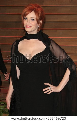 LOS ANGELES - MAR 2:  Christina Hendricks at the 2014 Vanity Fair Oscar Party at the Sunset Boulevard on March 2, 2014 in West Hollywood, CA - stock photo