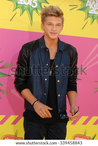 LOS ANGELES - MAR 23 - Cody Simpson arrives at the Nickelodeons 2013 Kids Choice Awards on March 23,  2013 in Los Angeles, CA              - stock photo