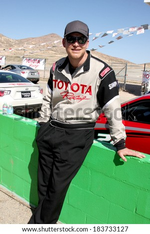 LOS ANGELES - MAR 15:  Cole Hauser at the Toyota Grand Prix of Long Beach Pro-Celebrity Race Training at Willow Springs International Speedway on March 15, 2014 in Rosamond, CA - stock photo