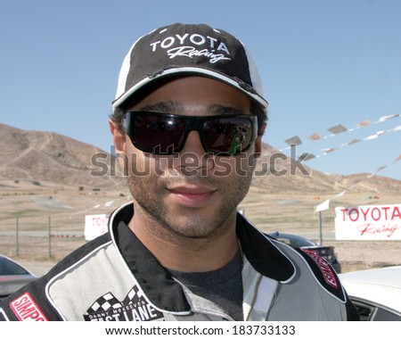 LOS ANGELES - MAR 15:  Corbin Bleu at the Toyota Grand Prix of Long Beach Pro-Celebrity Race Training at Willow Springs International Speedway on March 15, 2014 in Rosamond, CA - stock photo