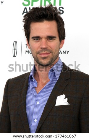 LOS ANGELES - MAR 1:  David Walton at the Film Independent Spirit Awards at Tent on the Beach on March 1, 2014 in Santa Monica, CA - stock photo