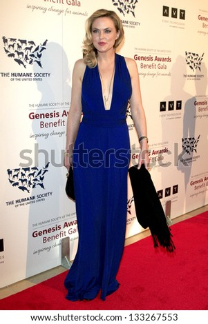 LOS ANGELES - MAR 23:  Elaine Hendrix arrives at the 2013 Genesis Awards Benefit Gala at the Beverly Hilton Hotel on March 23, 2013 in Beverly Hills, CA - stock photo