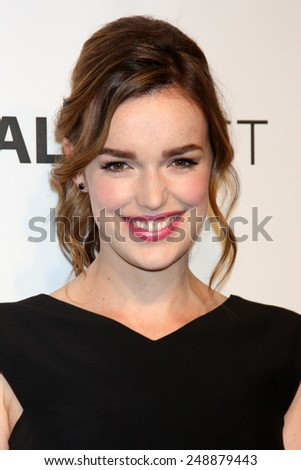"LOS ANGELES - MAR 23:  Elizabeth Henstridge at the PaleyFEST 2014 - ""Marvel's Agents of S.H.I.E.L.D."" at Dolby Theater on March 23, 2014 in Los Angeles, CA - stock photo"