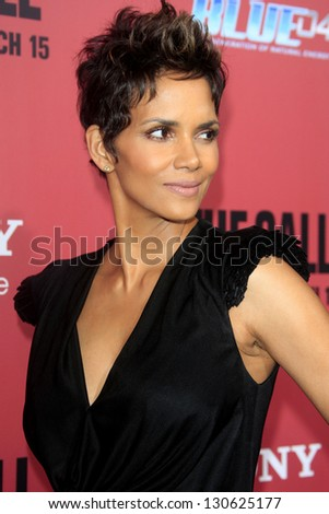 "LOS ANGELES - MAR 5:  Halle Berry arrives at ""The Call"" Premiere at the ArcLight Hollywood Theaters on March 5, 2013 in Los Angeles, CA - stock photo"