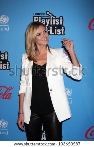 "LOS ANGELES - MAR 15:  Heidi Klum arrives at the ""UNICEF Playlist With The A-List"" Concert at the El Rey Theater on March 15, 2012 in Los Angeles, CA - stock photo"