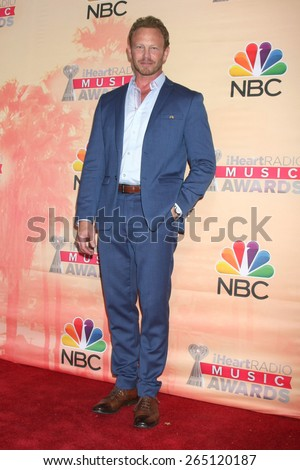 LOS ANGELES - MAR 29:  Ian Ziering at the 2015 iHeartRadio Music Awards Press Room at the Shrine Auditorium on March 29, 2015 in Los Angeles, CA - stock photo
