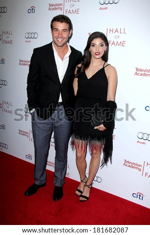 LOS ANGELES - MAR 11:  James Wolk, Amanda Setton at the Television Academy's 23rd Hall Of Fame Induction Gala at Beverly Wilshire Hotel on March 11, 2014 in Beverly Hills, CA - stock photo