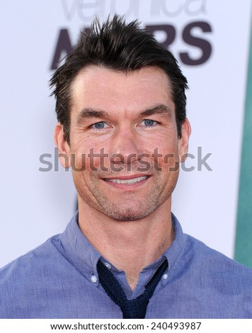 "LOS ANGELES - MAR 12:  Jerry O'Connell arrives to the """"Veronica Mars"" Los Angeles Premiere  on March 12, 2014 in Hollywood, CA                 - stock photo"