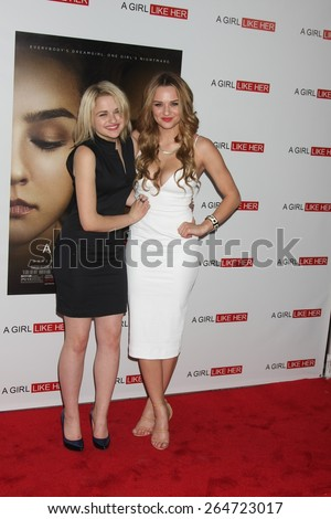 """LOS ANGELES - MAR 27:  Joey King, Hunter King at the """"A Girl Like Her"""" Screening at the ArcLight Hollywood Theaters on March 27, 2015 in Los Angeles, CA - stock photo"""