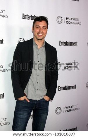 LOS ANGELES - MAR 10:  John Francis Daley at the PALEYFEST Icon Award IHO Judd Apatow at Paley Center For Media on March 10, 2014 in Beverly Hills, CA - stock photo