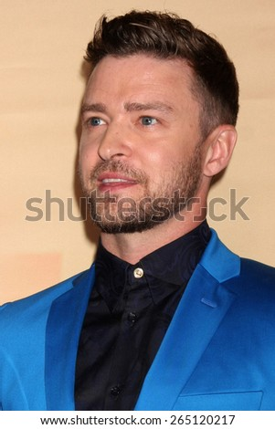 LOS ANGELES - MAR 29:  Justin Timberlake at the 2015 iHeartRadio Music Awards Press Room at the Shrine Auditorium on March 29, 2015 in Los Angeles, CA - stock photo